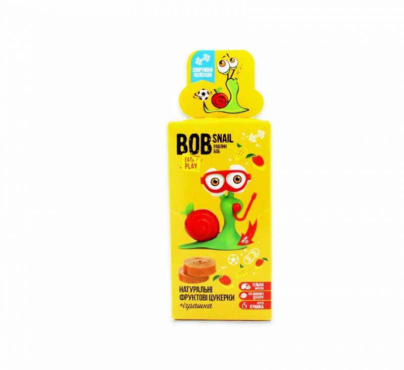 Набір цукерок фруктово-ягідних «Грушево-яблучний страйп» 20 г та іграшка Bob Snail