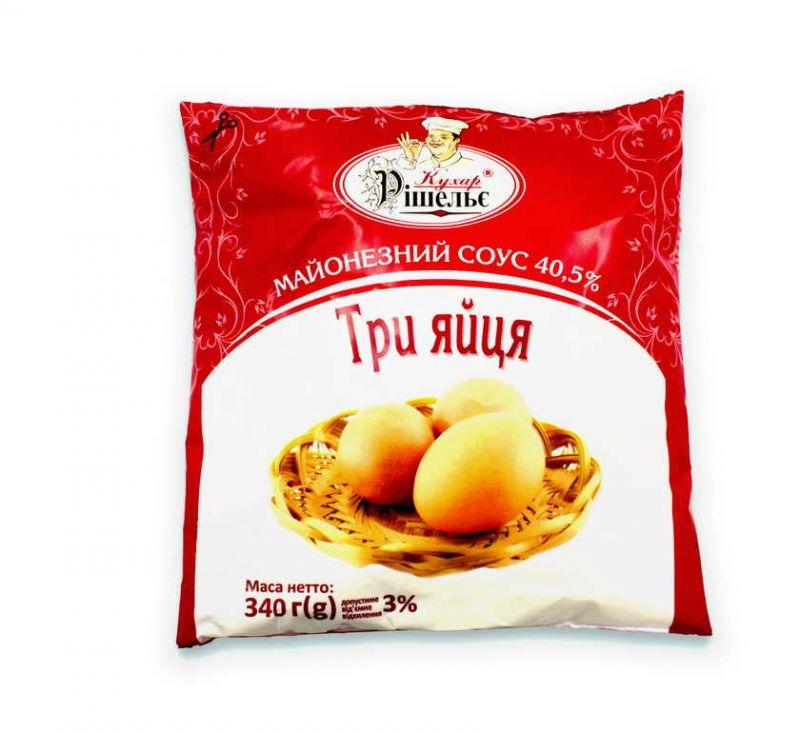 Соус майонезний Три яйца 40.5% 340 г Кухар Рішельє