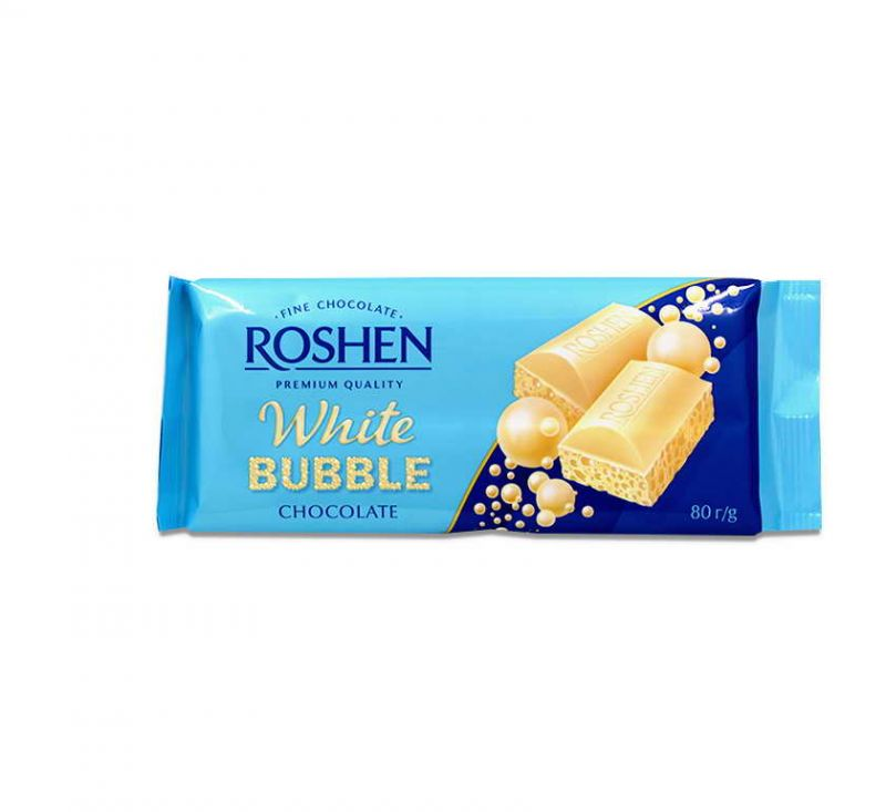 Шоколад пористий Білий 80 г Roshen