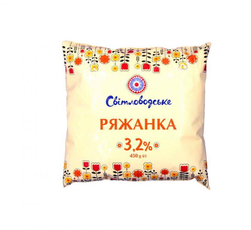 Ряжанка 3,2% 450 г Світловодське