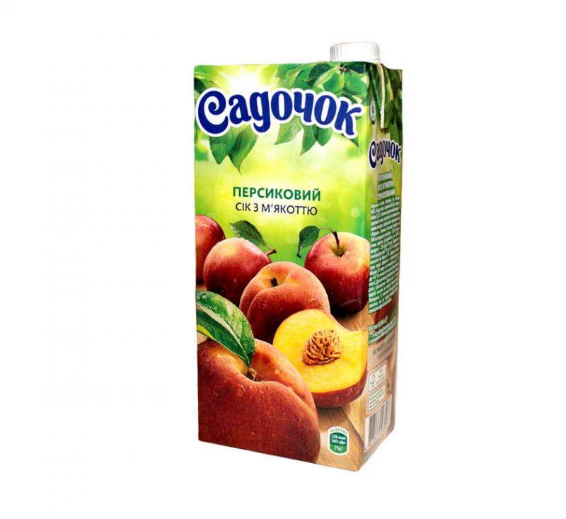Сік персиковий з м'якоттю 950 мл Садочок