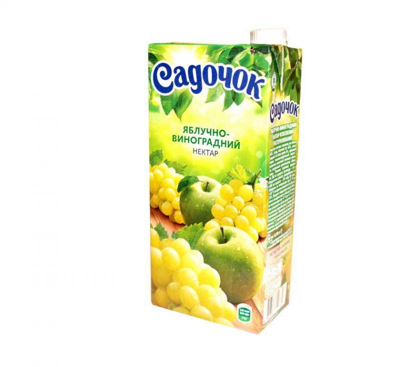 Нектар яблучно-виноградний 950 мл Садочок