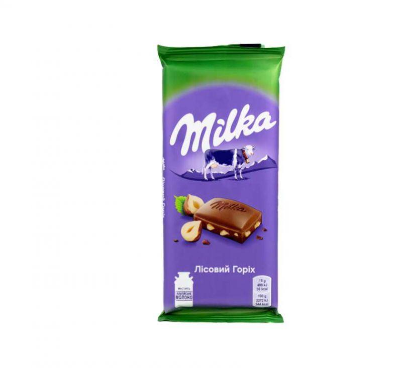Шоколад молочний Дроблений Лісовий Горіх 90 г Milka