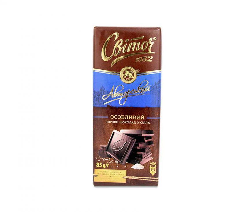 Шоколад чорний Авторський Особливий 85 г Світоч