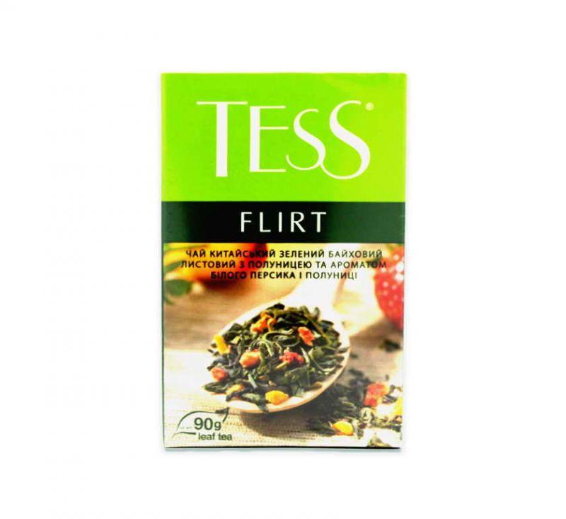 Чай Flirt з ароматом білого персика та полуниці 90 г TESS