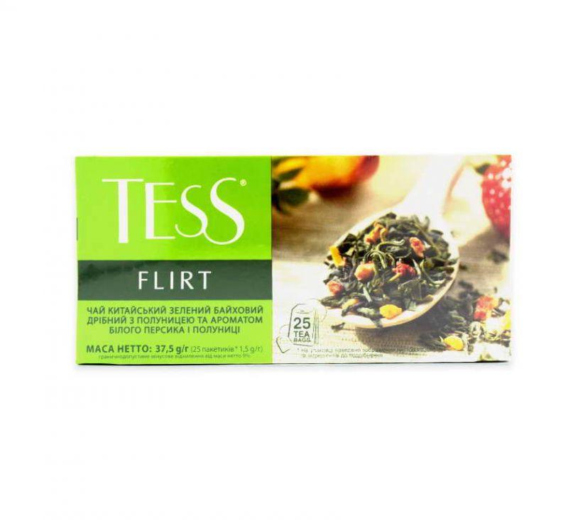 Чай Flirt з ароматом білого персика та полуниці 25 пакетів TESS