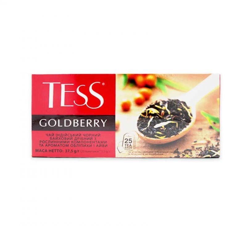 Чай Goldberry з ароматом обліпихи та айви 25 пакетів TESS