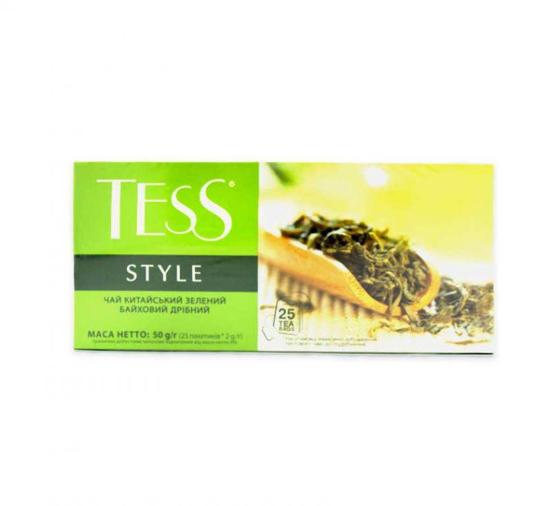 Чай Style зелений дрібний 25 пакетів TESS