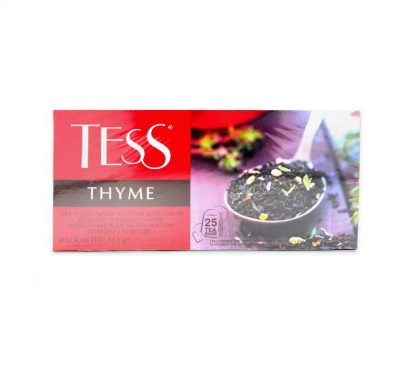 Чай Thyme з ароматом лимону та чебрецю 25 пакетів TESS