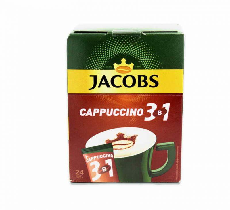 Напій кавовий розчинний 3 в 1 Капучіно 300 г Jacobs