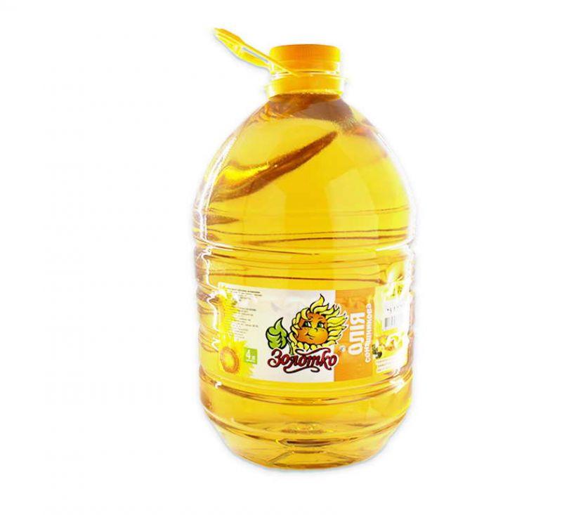 Олія рафінована 4 л Золотко